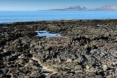 picture of canary-islands  - on the coast of volcanic island  - JPG