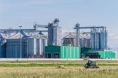 pic of biogas  - Storage facility cereals and production of biogas - JPG