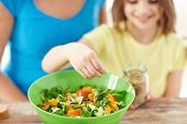 stock photo of healthy eating girl  - food - JPG
