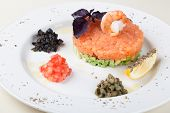 picture of tartar  - tartar salad with salmon and avocado - JPG