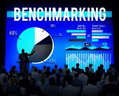 foto of benchmarking  - Benchmarking Improvement Growth Marketing Concept - JPG