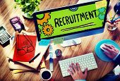 image of recruiting  - Recruitment Qualification Mission Application Employment Hiring Concept - JPG
