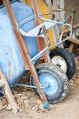 stock photo of wheelbarrow  - Close - JPG