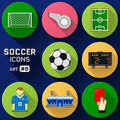 picture of football pitch  - Pack of symbols for association football - JPG