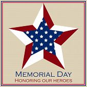 pic of fallen  - Colored background with text and elements for memorial day - JPG