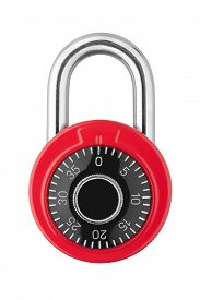 image of combinations  - Combination lock isolated on white background - JPG
