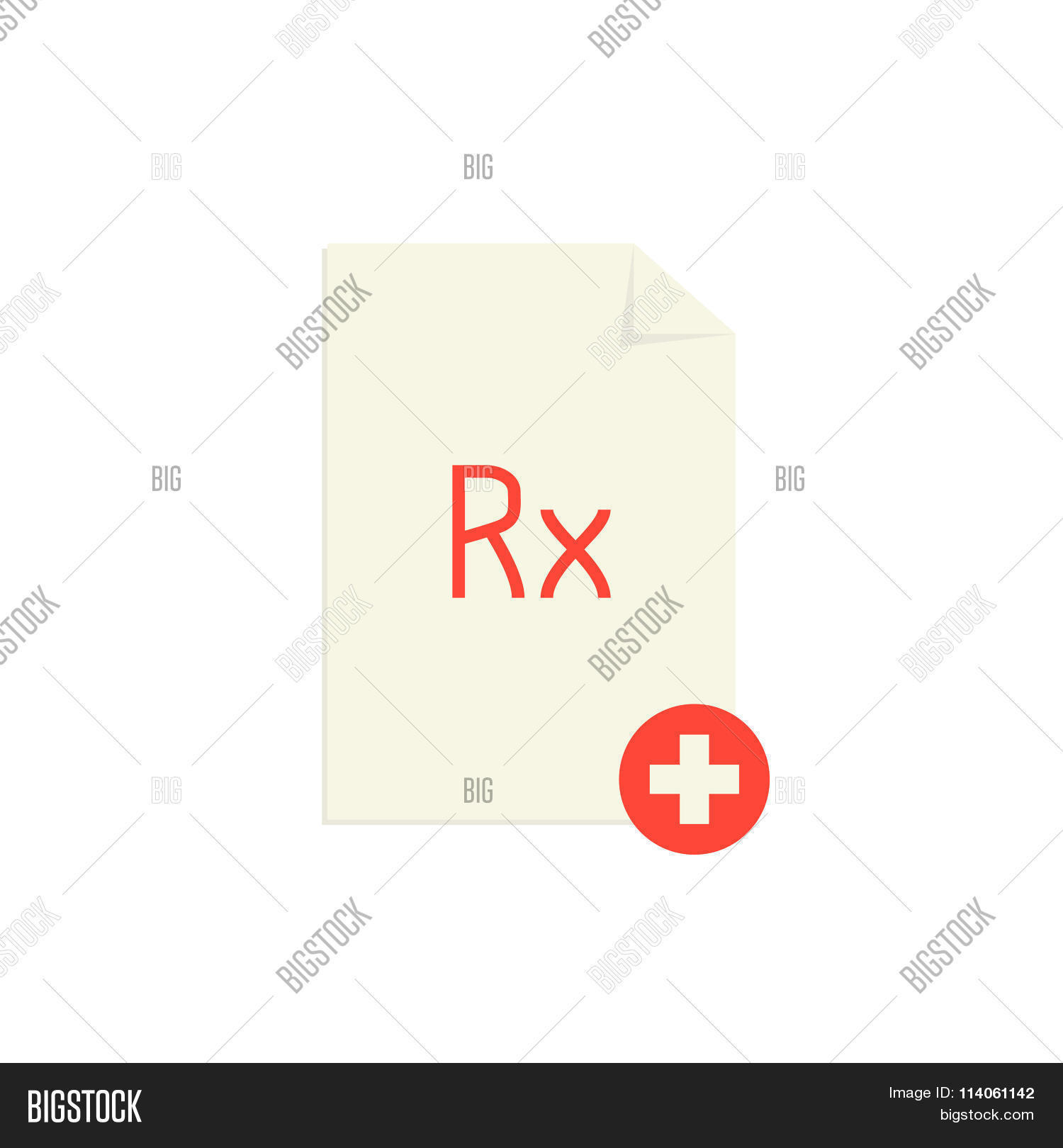 Medical prescription red rx symbol vector photo bigstock medical prescription with red rx symbol and cross buycottarizona