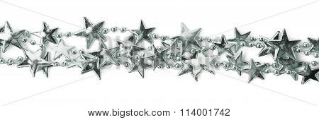 Line of a star garland thread isolated