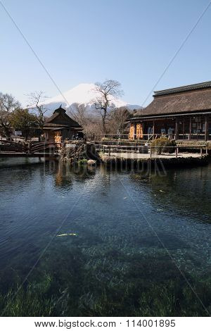 Mt. Fuji and Oshino Hakkai springs in Japan
