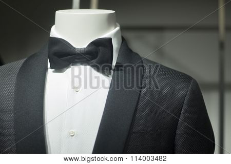 Store Dummy In Dinner Jacket And Bow Tie