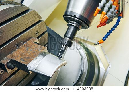 industrial cnc metalwork detail machining