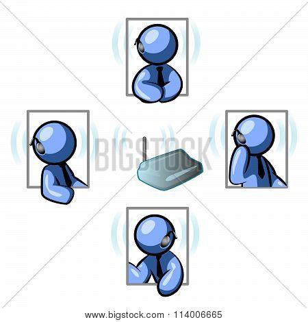 Blue Man Communications Network