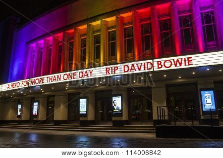 Rip David Bowie At The Hammersmith Apollo