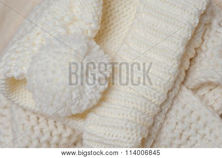 Knitted Texture And Color Of Ivory Bubo