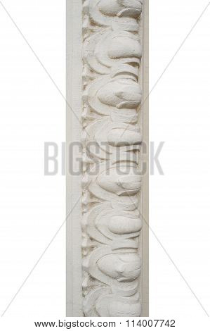Architecture Bas-relief Isolated On White Background