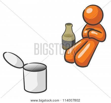 Design Mascot Beggar