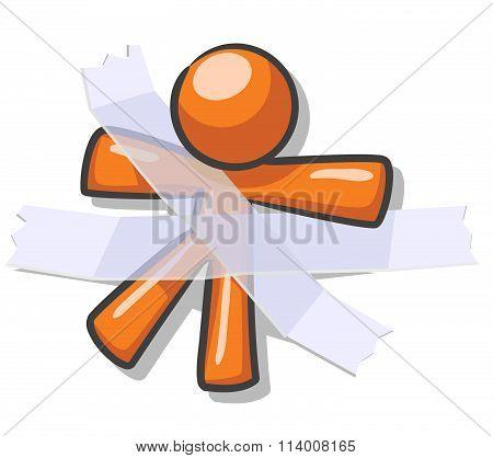 Design Mascot Taped Down