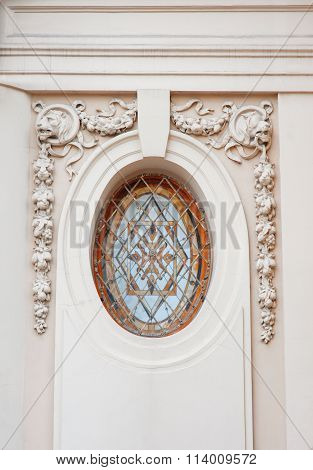 Beautiful Architectural Circle With Stucco Bas-relief