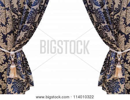 Curtain Isolated On White Background