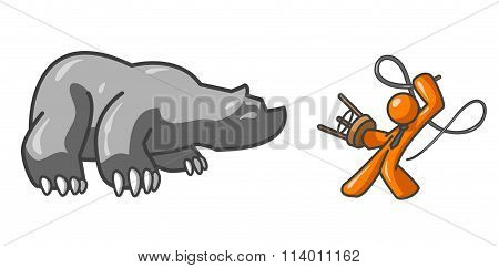 Orange Man Bear Tamer