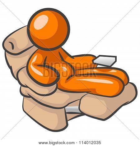 Orange Man Laziness