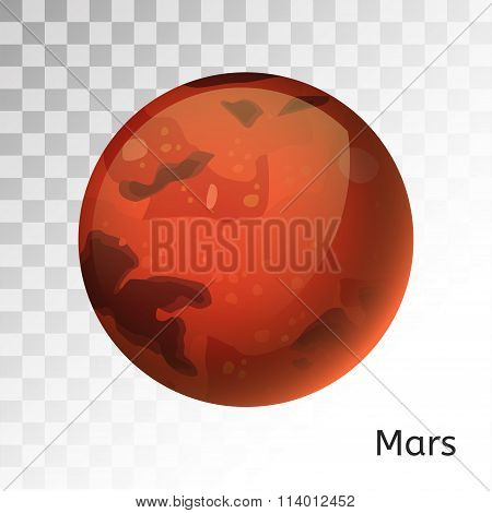 Mars planet 3d vector illustration