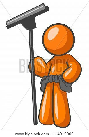 Orange Man Window Cleaner