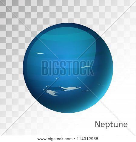 Neptune planet 3d vector illustration