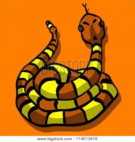 Yellow and Orange Snake