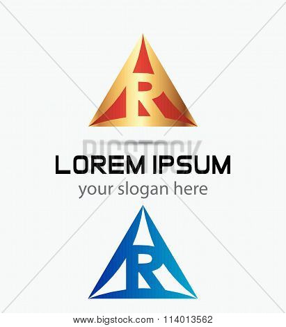 Letter R logo symbol