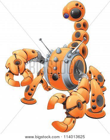 Orange Scorpion Robot