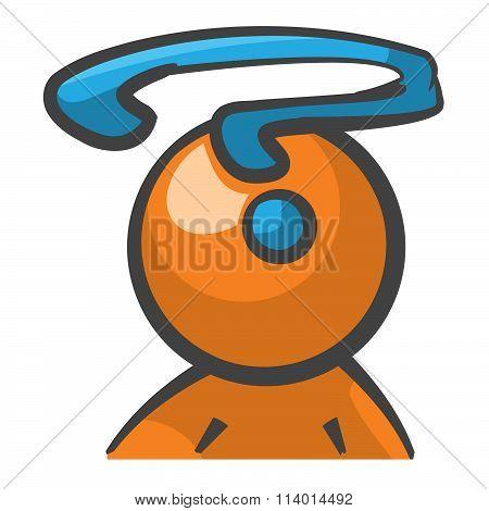 Orange Person Question Mark