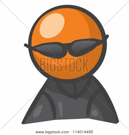 Orange Person Hacker Or Spy