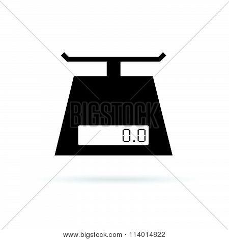 Scales Digital For Food Vector In Black