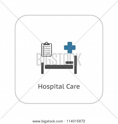 Hospital Care Icon. Flat Design.