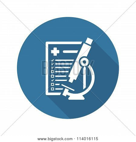 Laboratory Analysis Icon. Flat Design.