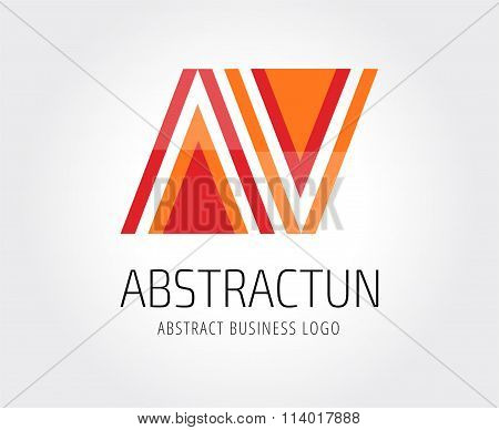 Arrow abstract logo template