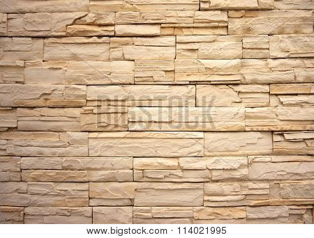 Sandstone Brick Wall Background