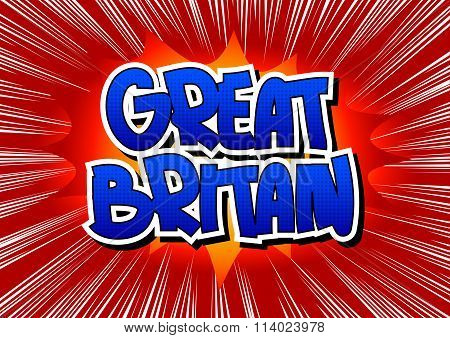 Great Britain - Comic Book Style Word.