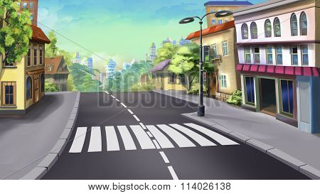 crosswalk in a city - 1