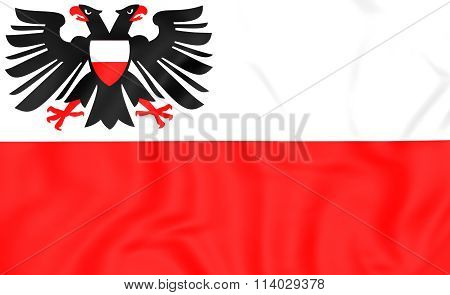 Flag Of Lubeck (schleswig-holstein), Germany.