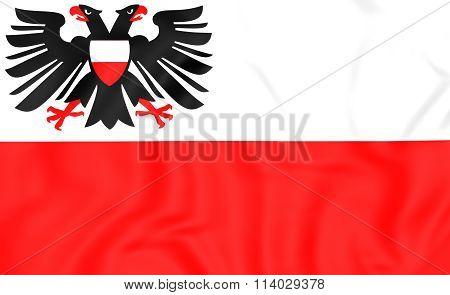 Flag Of Lubeck (schleswig-holstein), Germany.