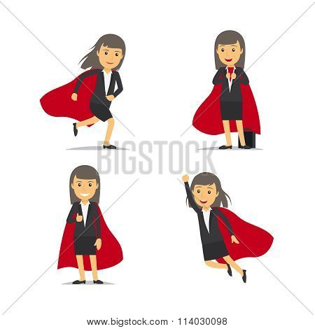 Businesswoman superhero vector