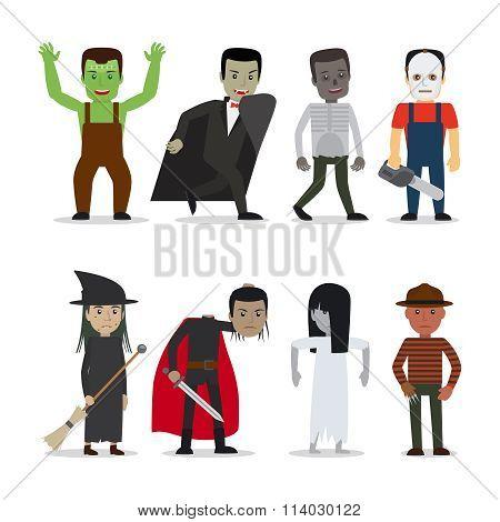 Horror characters vector