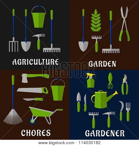 Tools for agriculture and gardening work