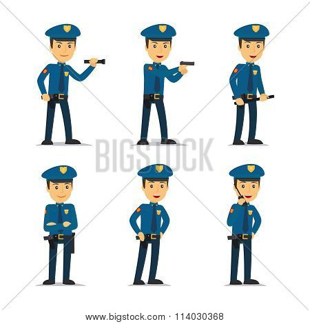 Police officer vector character
