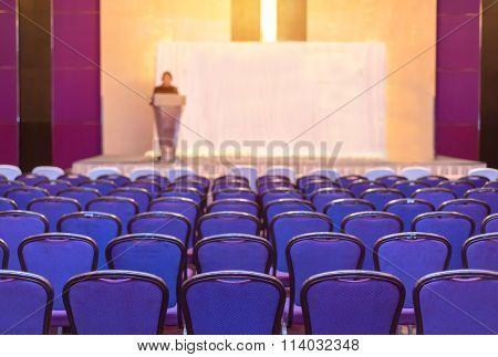 Speaker Prepares To Lecture But People Not Interested In Listening To Lectures