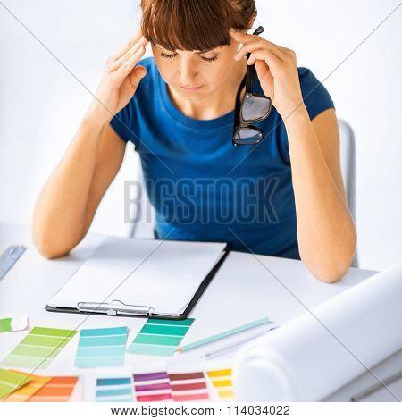 stressed interior designer