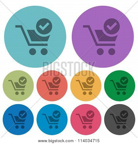 Color Checkout Flat Icons