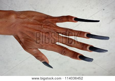 Long fingernails of Balinese dancer, Bali